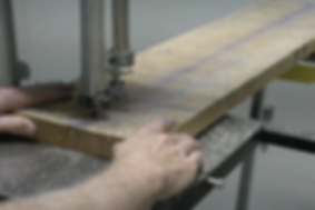 Using a band saw to cut maple