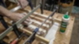 Clamping the first glue-up