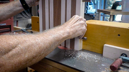 Routing finger slots into the ends of the cutting board