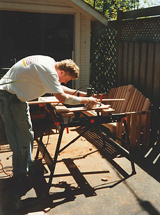 Photo of me making the original bench in 1996