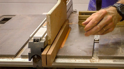 Ripping the sipo into thinner strips