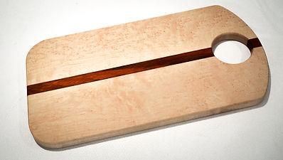 Birds eye maple and padauk cutting board