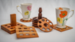 Set of wooden coasters