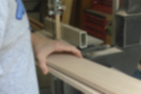 Using the band saw to resaw the maple