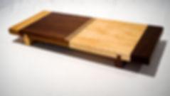Walnut and birds eye maple cutting board