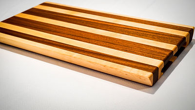Maple and sipo cutting board