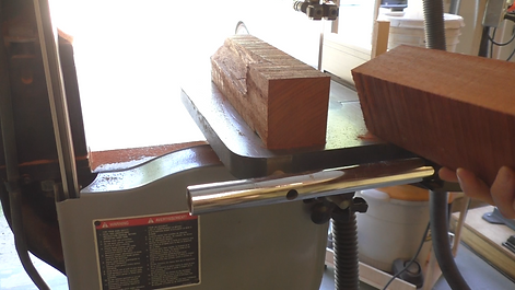 Cutting Padauk on the band saw