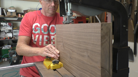 Re-sawing the Walnut