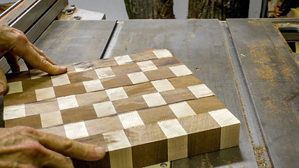 Test fitting the end grain pieces