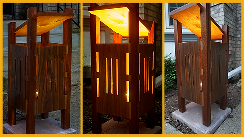 Contemporary outdoor lamps