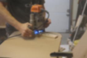 Cutting the sacrificial insert with a router