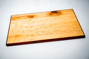 Birds eye maple and padauk serving tray