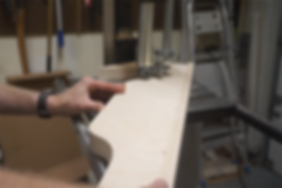 Shaping the fence profile on the band saw