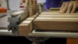 Cutting the end grain strips