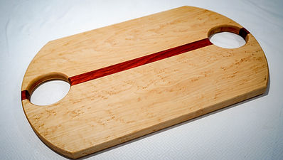 Birds eye maple and padauk cutting board