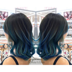 Her birthday wish was to have blue hair! Her wish was granted! Thank you _gduarte86 for letting me t