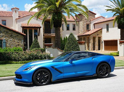 corvette matte metallic blue ghost 5