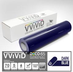 deco65 gloss dark blue craft vinyl
