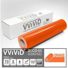 deco65 gloss orange craft vinyl