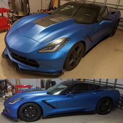 corvette matte metallic blue ghost 4