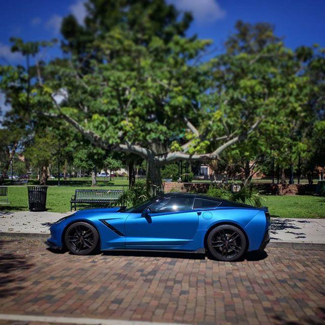 corvette matte metallic blue ghost 2