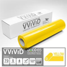 deco65 gloss yellow craft vinyl