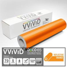 deco65 reflective orange craft vinyl