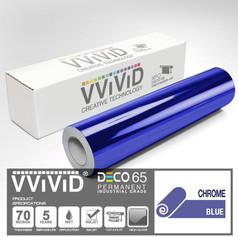 deco65 chrome blue craft vinyl