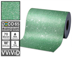 deco65 glitter green craft vinyl