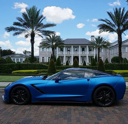 corvette matte metallic blue ghost 6