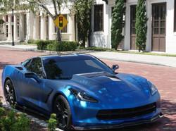 corvette matte metallic blue ghost 1
