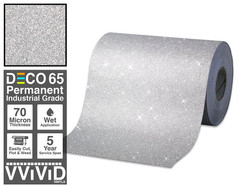 deco65 glitter silver craft vinyl