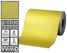deco65 glitter gold craft vinyl