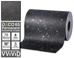 deco65 glitter black craft vinyl