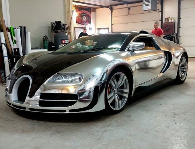 Bugatti Veyron SP Chrome Silver wrap