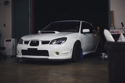 Glow in the dark blue Vinyl Subaru