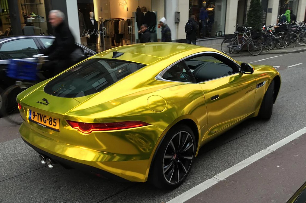 chrome gold jag 8