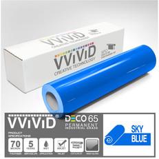 deco65 gloss sky blue craft vinyl
