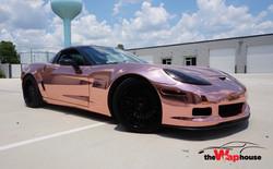 corvette chrome rose gold
