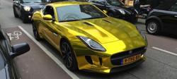 1 vvivid xpo gold chrome supercast jaguar F-Type wrap vinyl 14