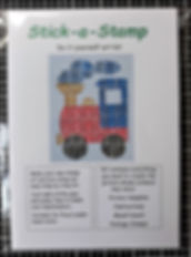 DiY Stamp Art kit - Train