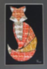 Fox stamp art