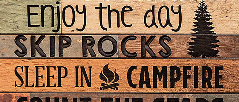 Cabin Rules Canvas