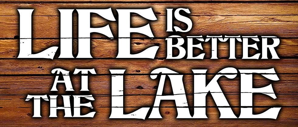 Life is Better at the Lake Canvas (wood)