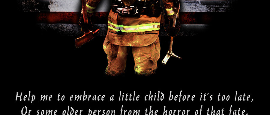 Firefighter Prayer Canvas