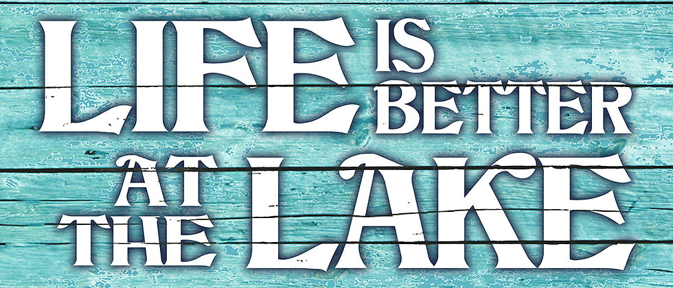 Life is Better at the Lake Canvas (Blue)