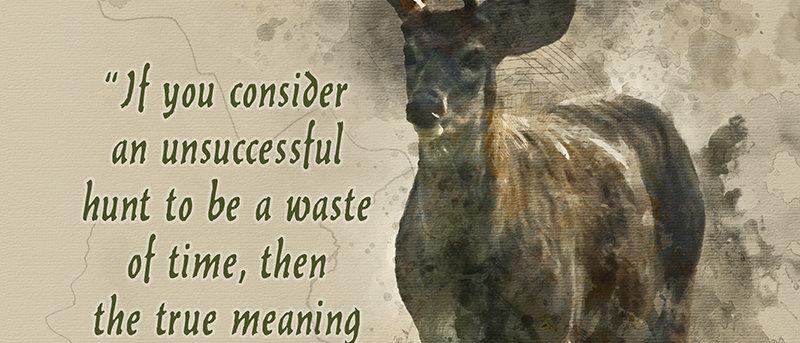 Deer Watercolor Canvas