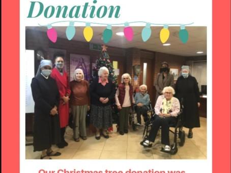Christmas Tree Donation - sponsored by Christmas Tree World Wigan UK