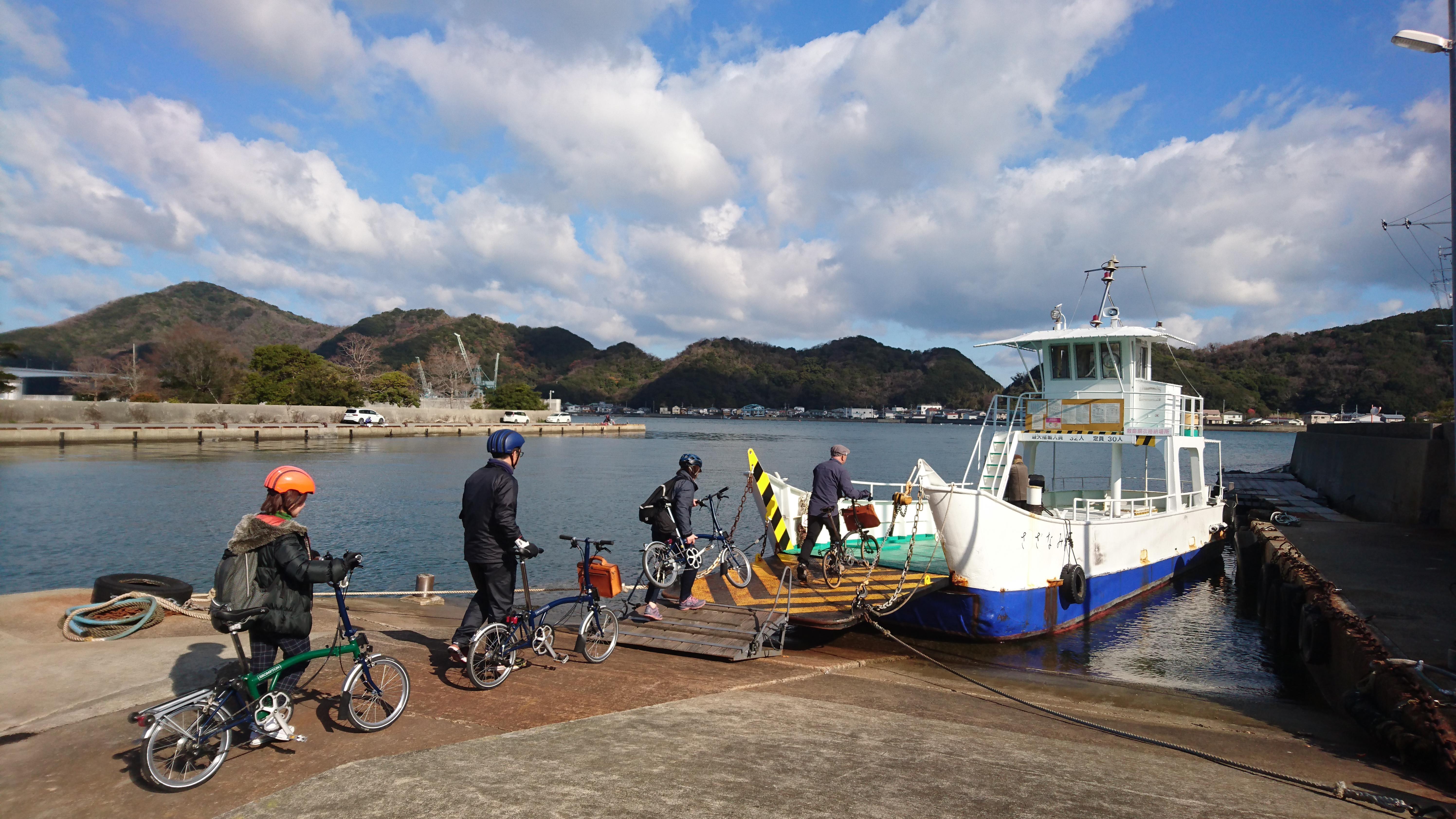 岡崎より渡船に乗り込みます