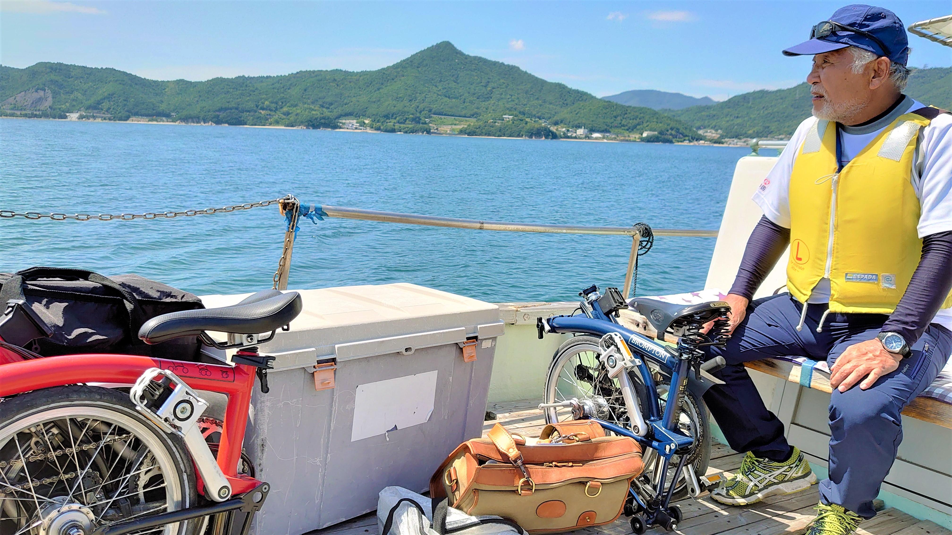 小豆島・渡船で輪行
